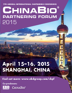 ChinaBio® Partnering Forum | Shanghai | April 15-16, 2015