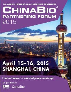 ChinaBio® Partnering Forum | Shanghai | April 15-16, 2015