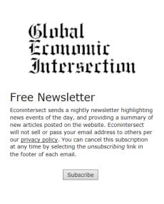 Global Economic Intsersection
