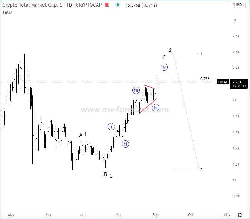 Crypto Market Cap Elliott Wave Analysis
